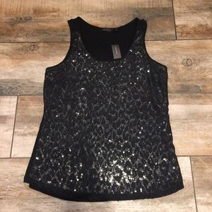 The Limited - NWT! Sequined Tank Top (Large)